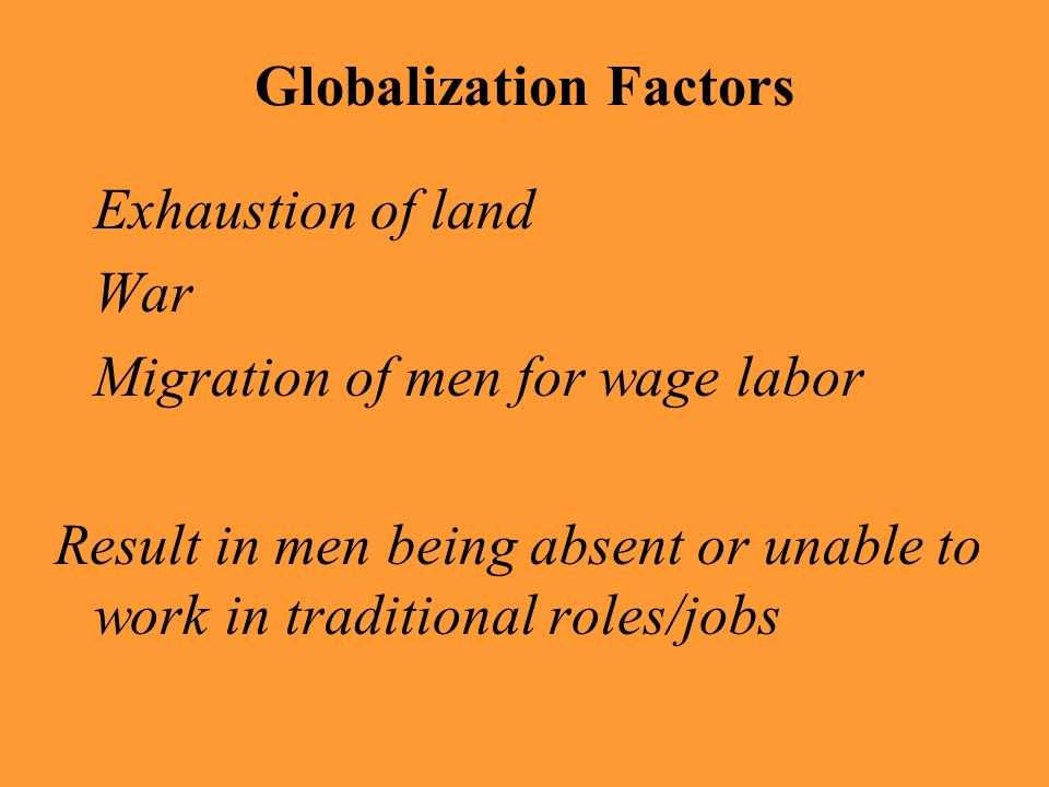 Globalization Factors