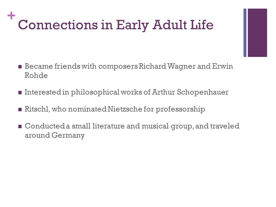 Connections in Early Adult Life