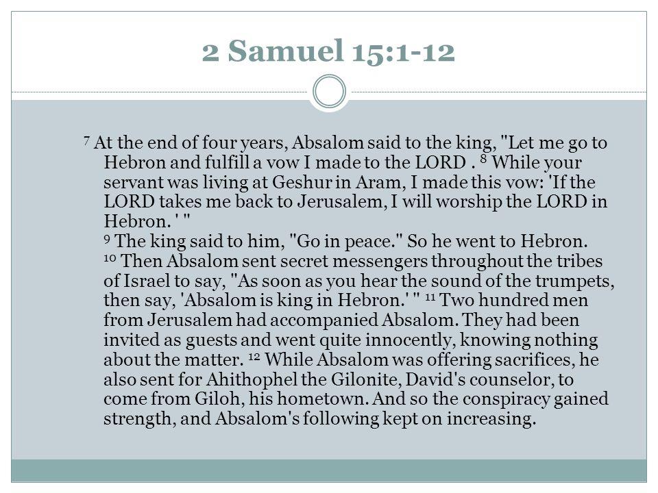 2 Samuel 15:1-12