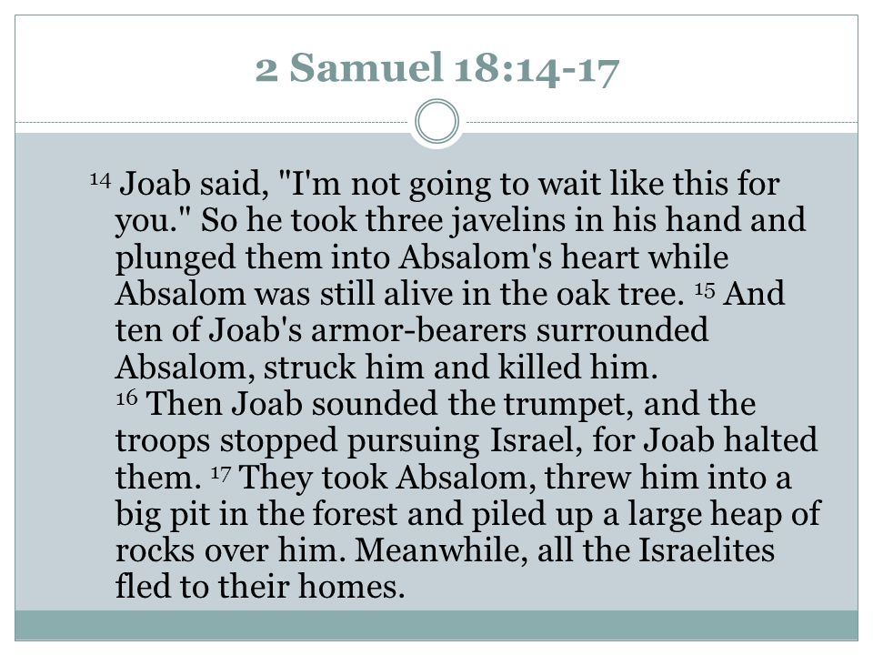 2 Samuel 18:14-17