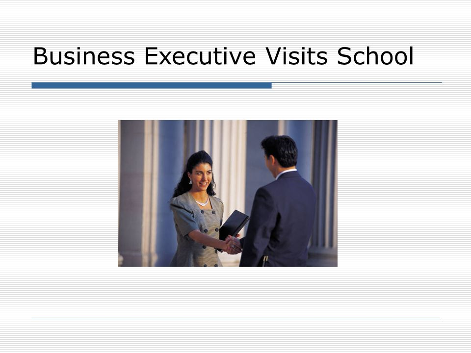 Business Executive Visits School