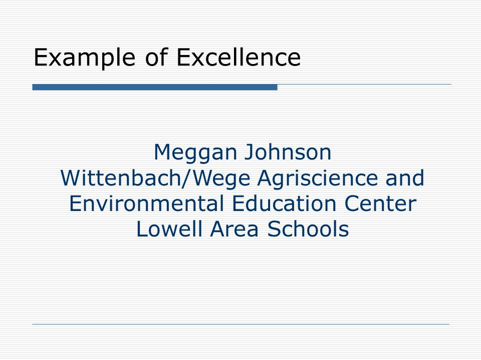 Wittenbach/Wege Agriscience and Environmental Education Center