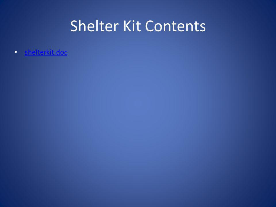 Shelter Kit Contents shelterkit.doc