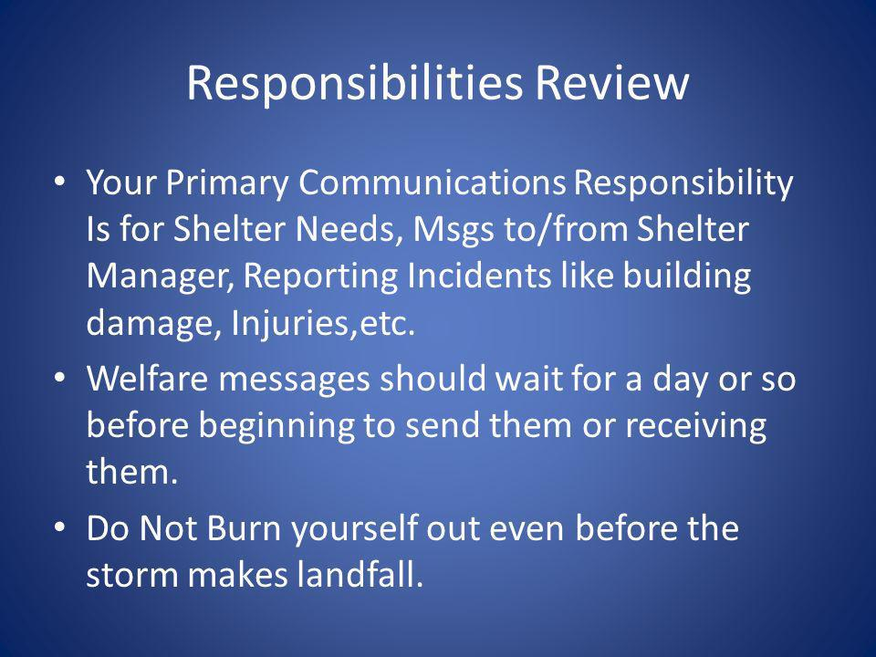 Responsibilities Review