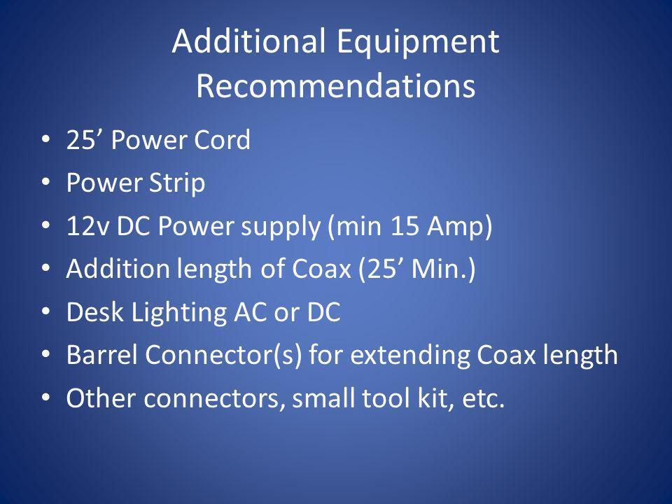 Additional Equipment Recommendations