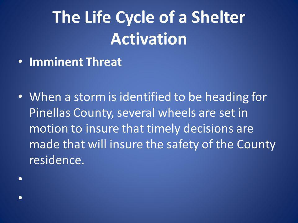 The Life Cycle of a Shelter Activation
