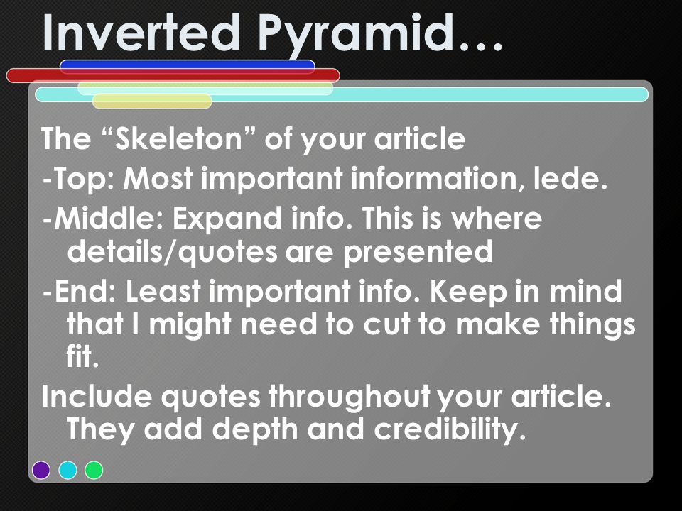 Inverted Pyramid… The Skeleton of your article