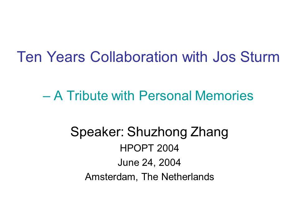 Speaker: Shuzhong Zhang