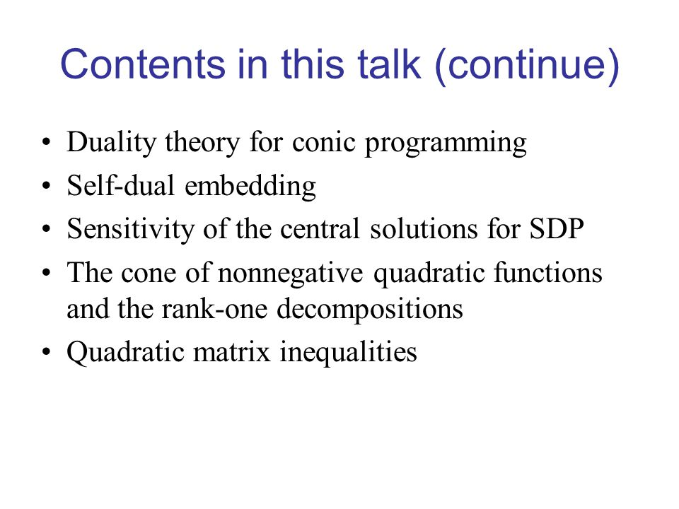 Contents in this talk (continue)