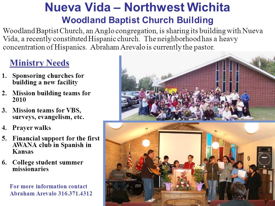 Nueva Vida – Northwest Wichita Woodland Baptist Church Building