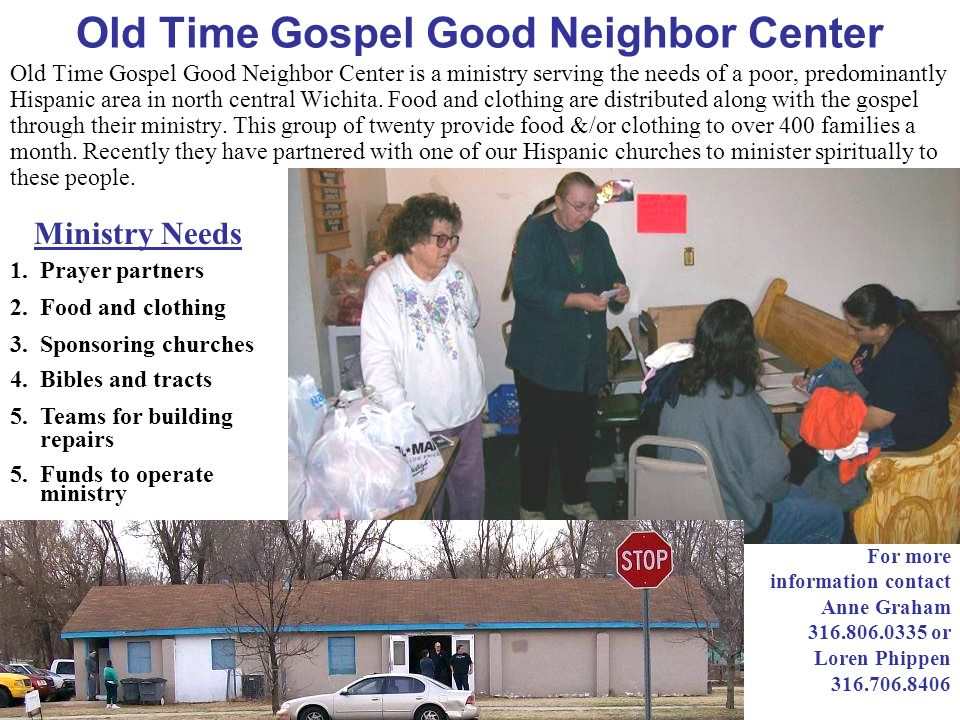 Old Time Gospel Good Neighbor Center