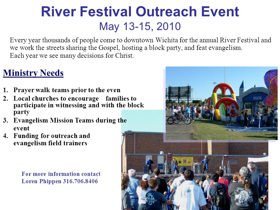 River Festival Outreach Event May 13-15, 2010
