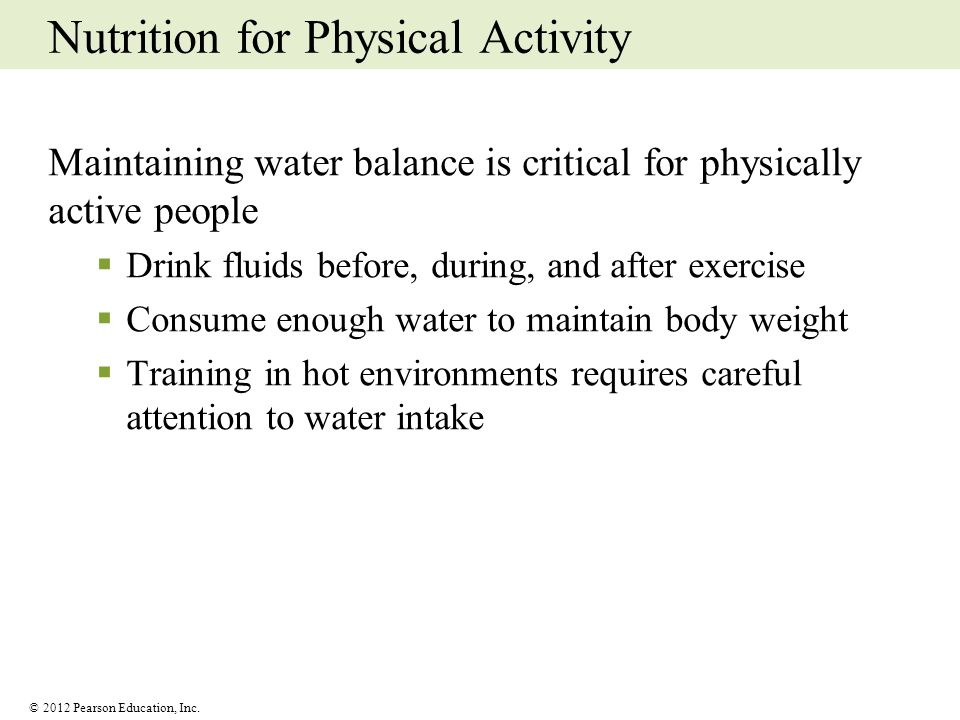 Nutrition for Physical Activity
