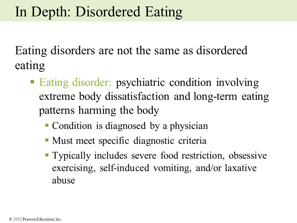 In Depth: Disordered Eating