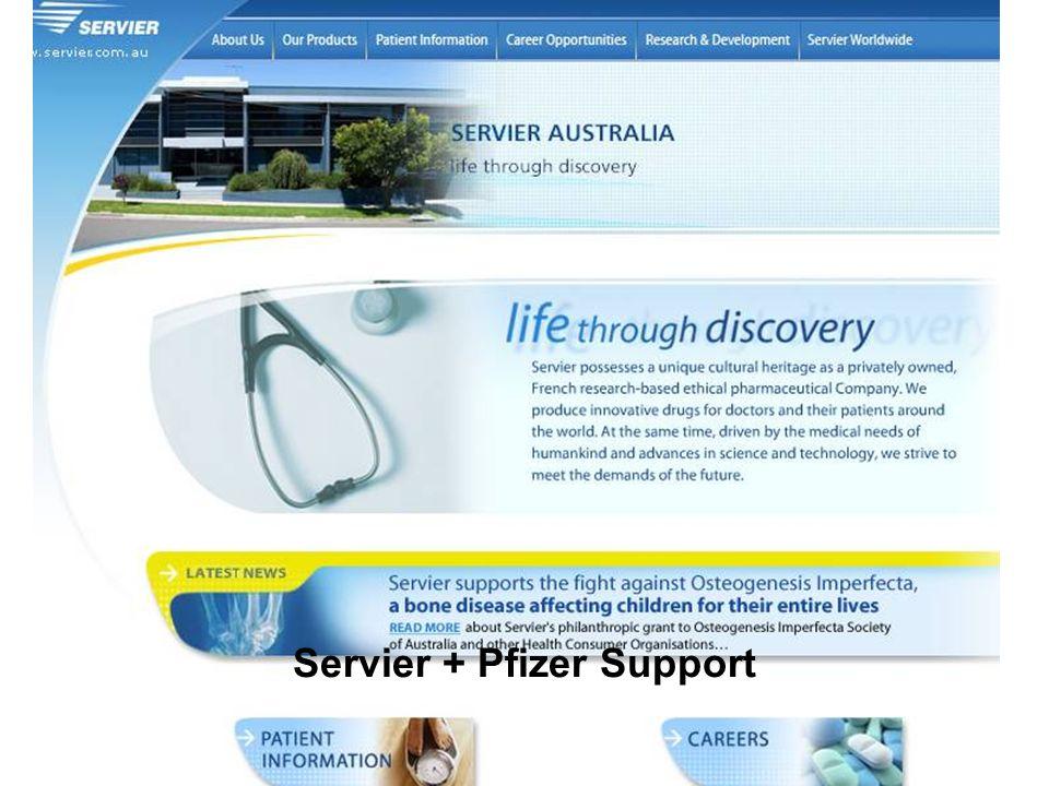 Servier + Pfizer Support