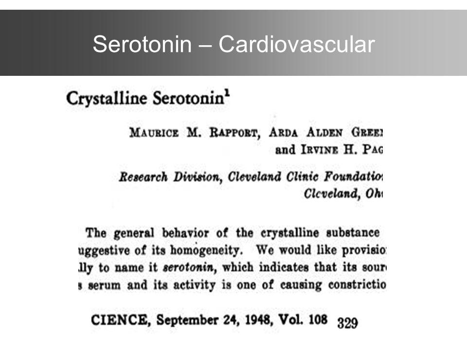 Serotonin – Cardiovascular