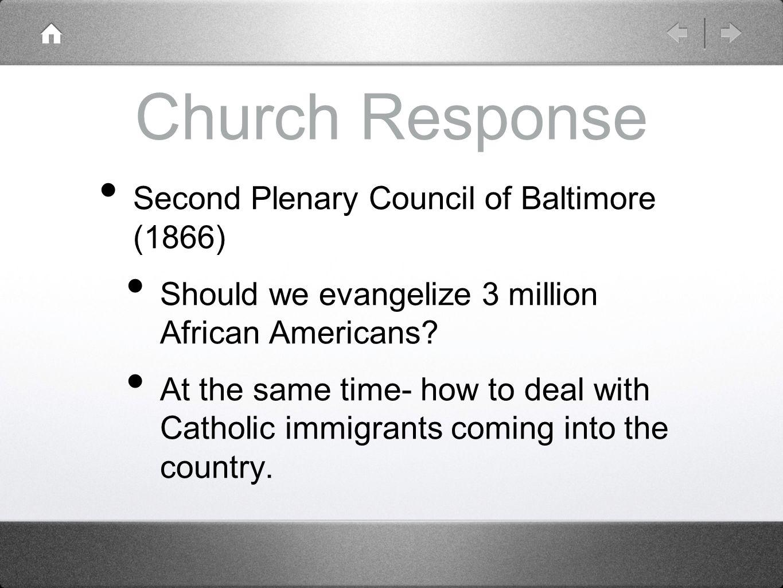 Church Response Second Plenary Council of Baltimore (1866)