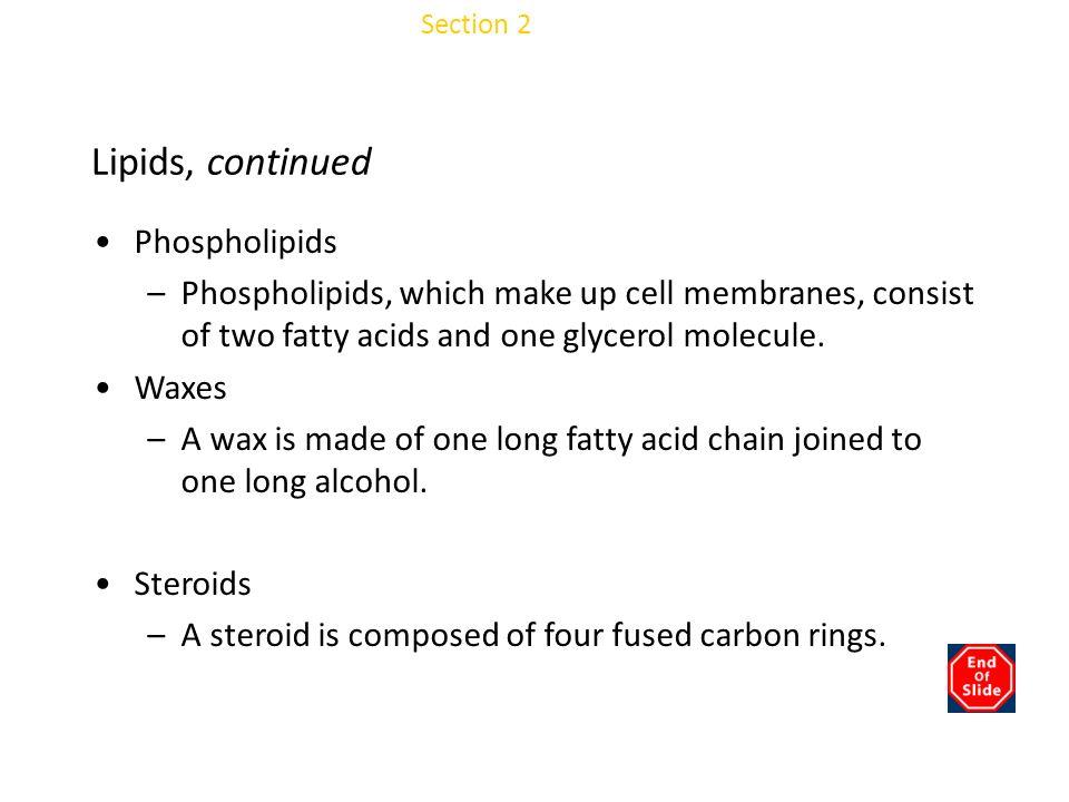 Chapter 3 Lipids, continued Phospholipids
