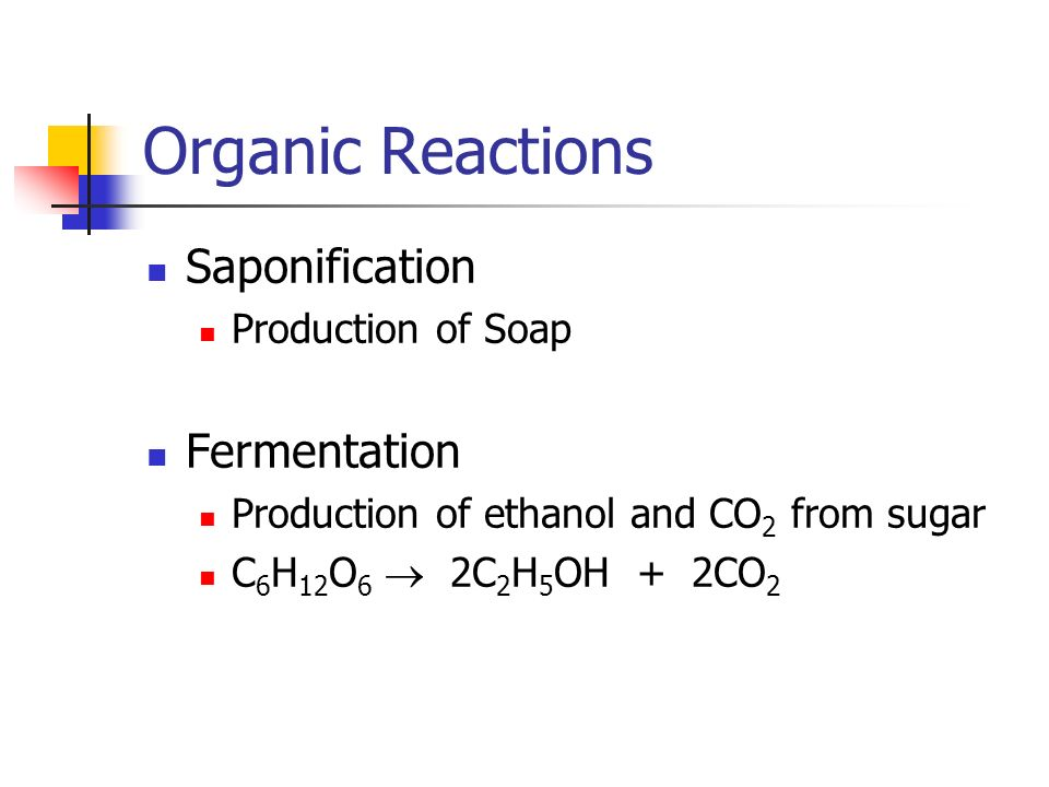 Organic Reactions Saponification Fermentation Production of Soap