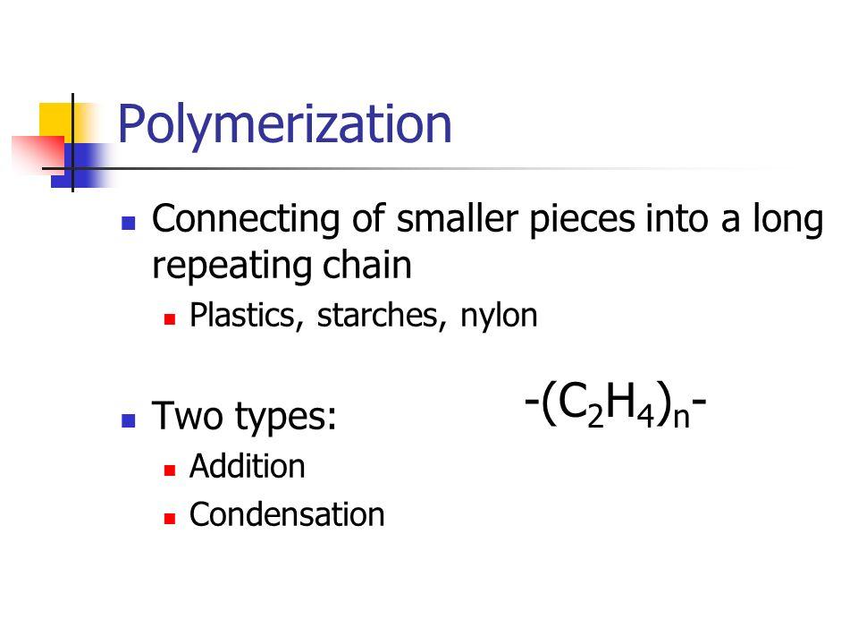 Polymerization -(C2H4)n-