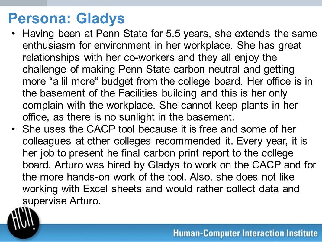 Persona: Gladys