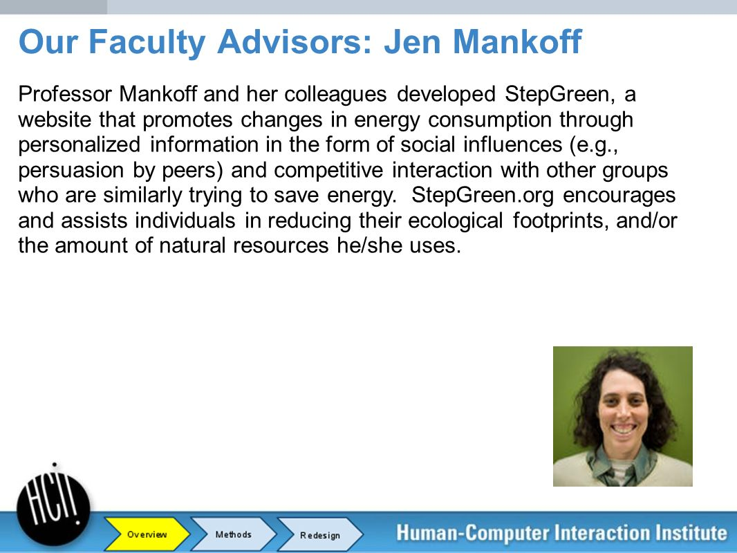 Our Faculty Advisors: Jen Mankoff