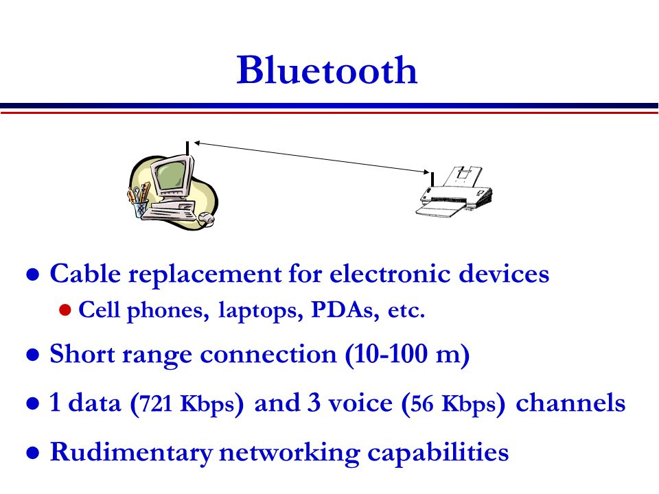 Bluetooth Cable replacement for electronic devices