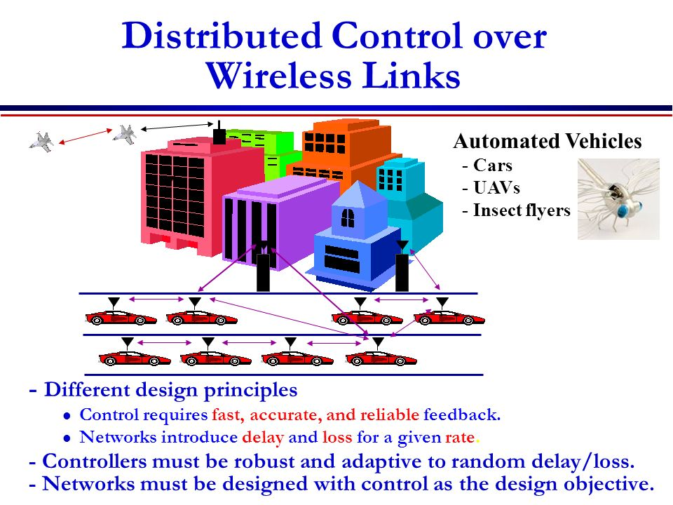 Distributed Control over Wireless Links