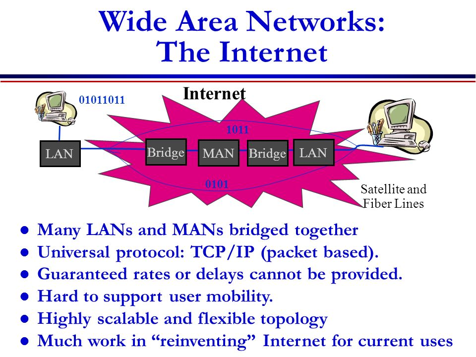 Wide Area Networks: The Internet