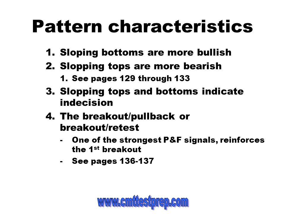 Pattern characteristics
