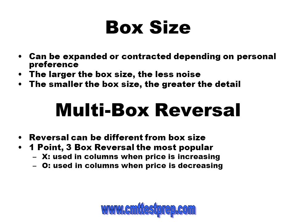 Box Size Multi-Box Reversal