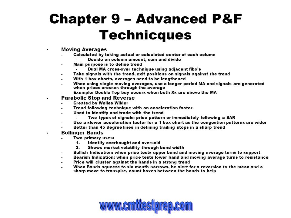 Chapter 9 – Advanced P&F Technicques