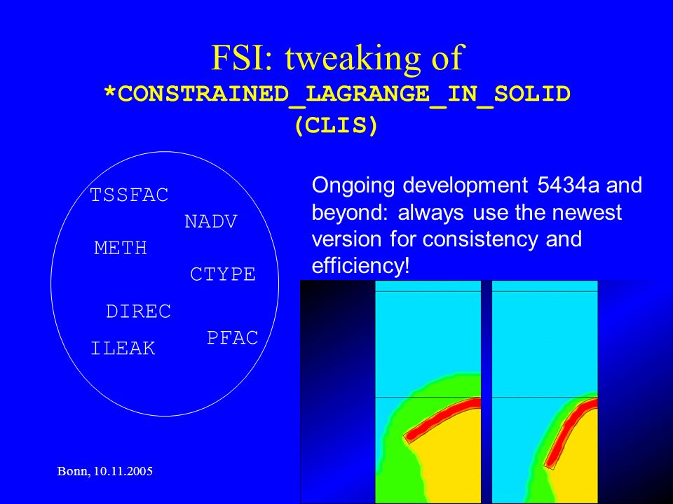 FSI: tweaking of *CONSTRAINED_LAGRANGE_IN_SOLID (CLIS)