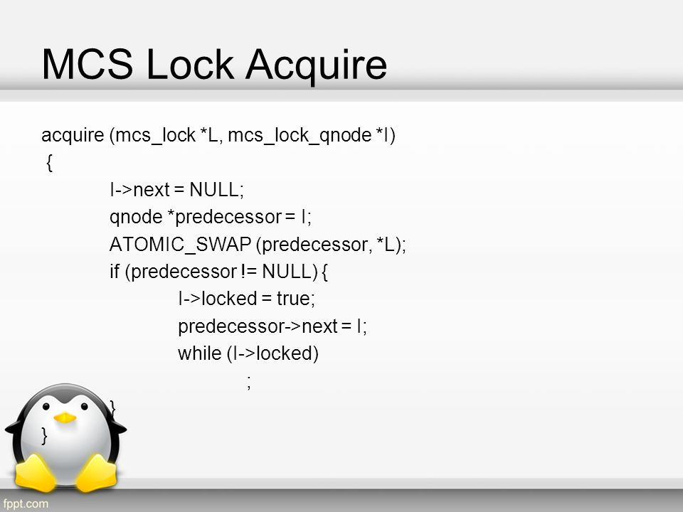 MCS Lock Acquire