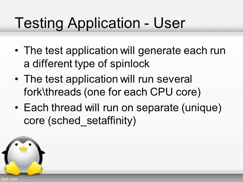 Testing Application - User