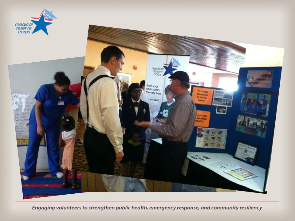 MRC can help to educate the community…about health and DRR