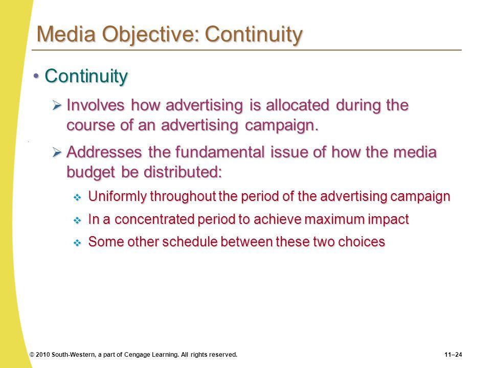 Media Objective: Continuity