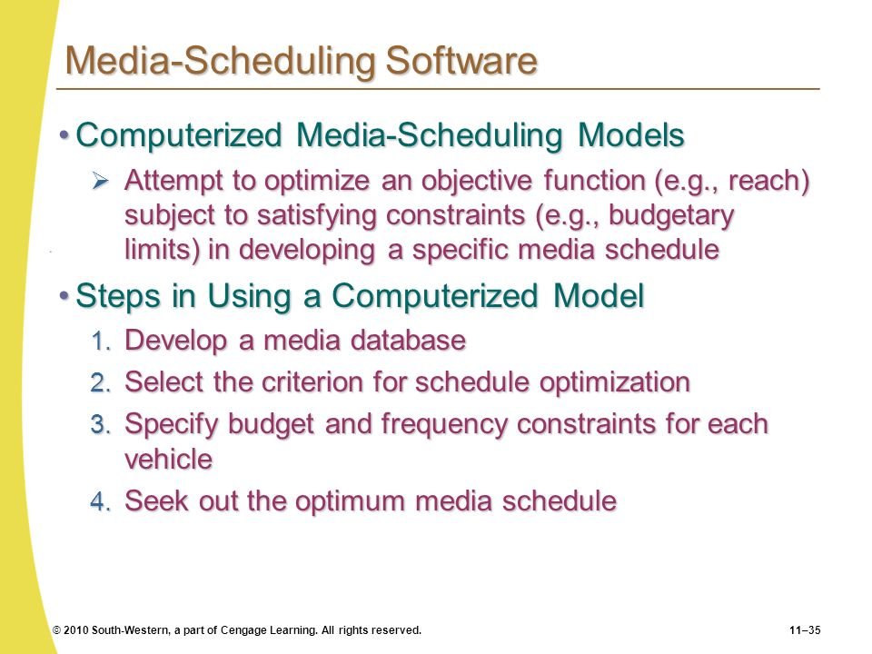Media-Scheduling Software