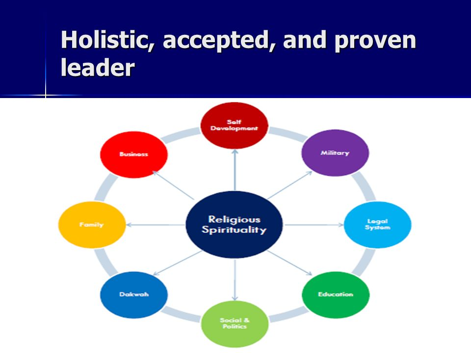 Holistic, accepted, and proven leader