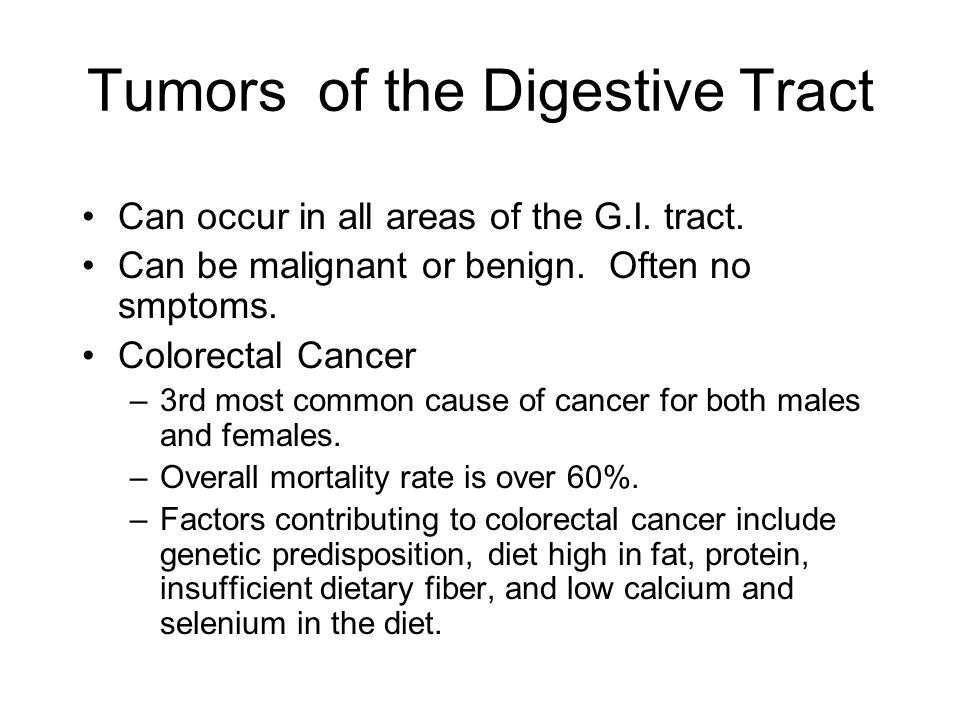 Tumors of the Digestive Tract