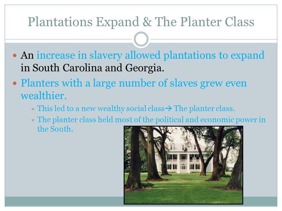 Plantations Expand & The Planter Class