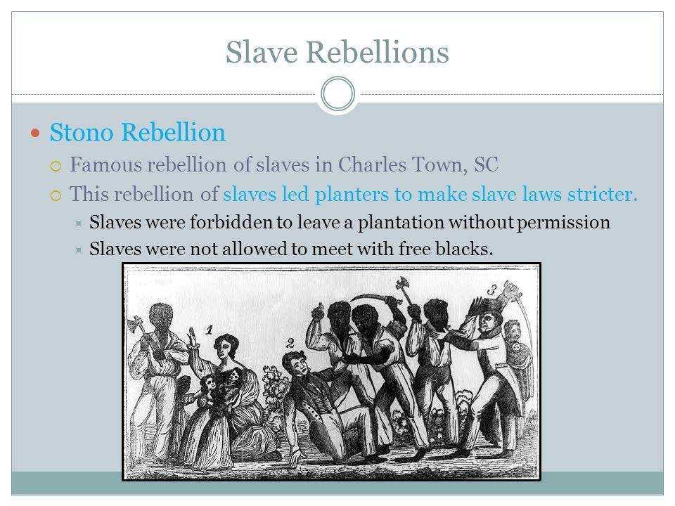 Slave Rebellions Stono Rebellion