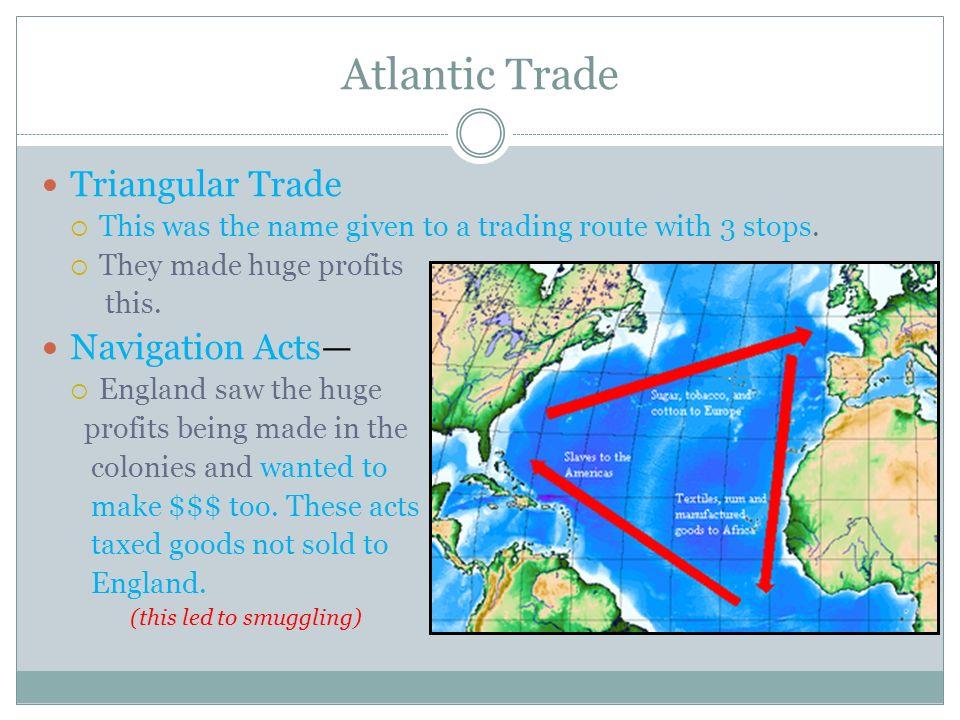 Atlantic Trade Triangular Trade Navigation Acts—