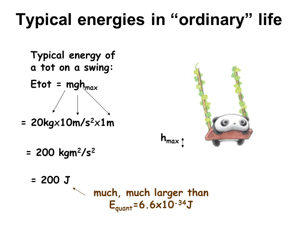 Typical energies in ordinary life
