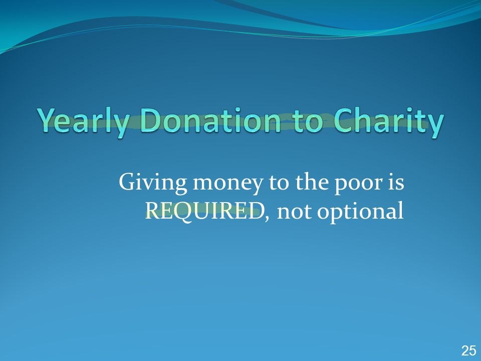 Yearly Donation to Charity