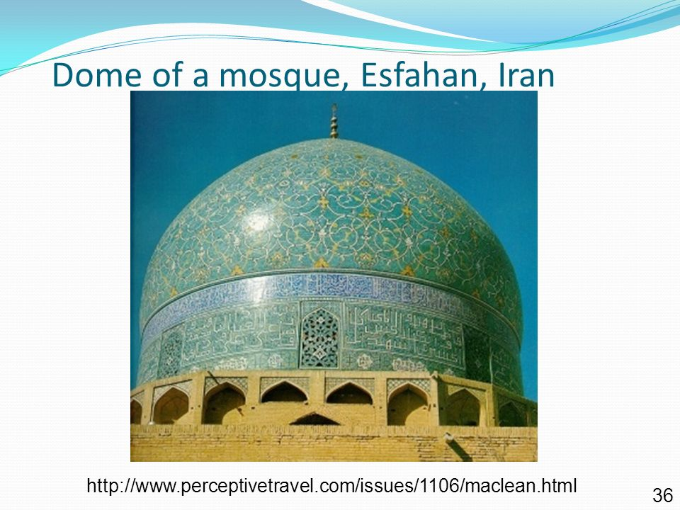 Dome of a mosque, Esfahan, Iran