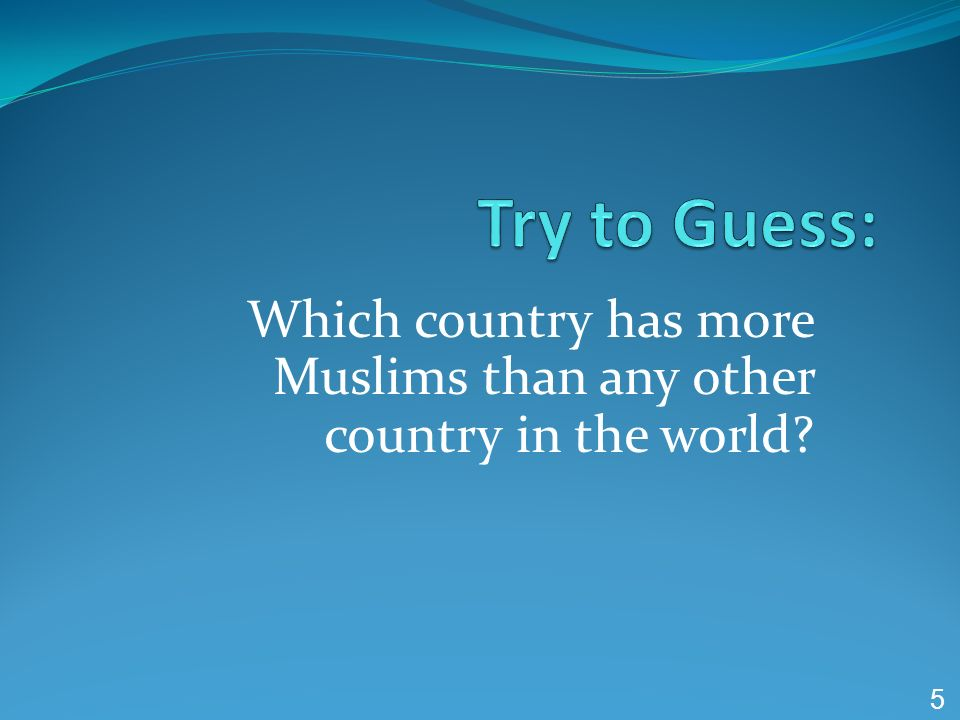 Which country has more Muslims than any other country in the world