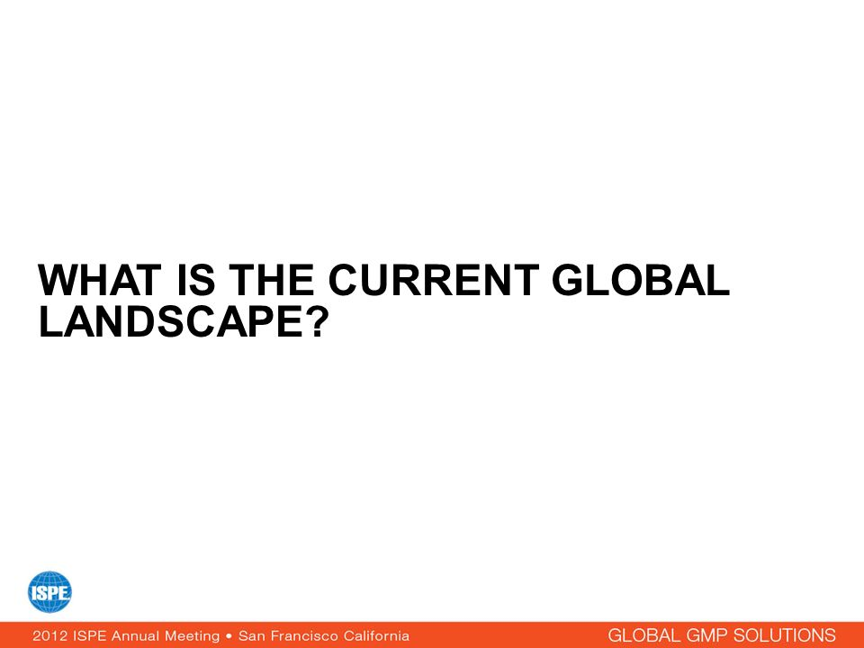 What is the current global landscape