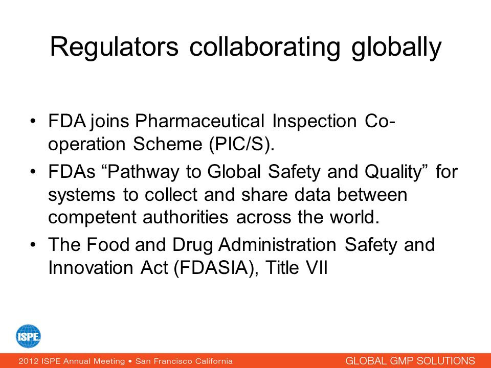 Regulators collaborating globally