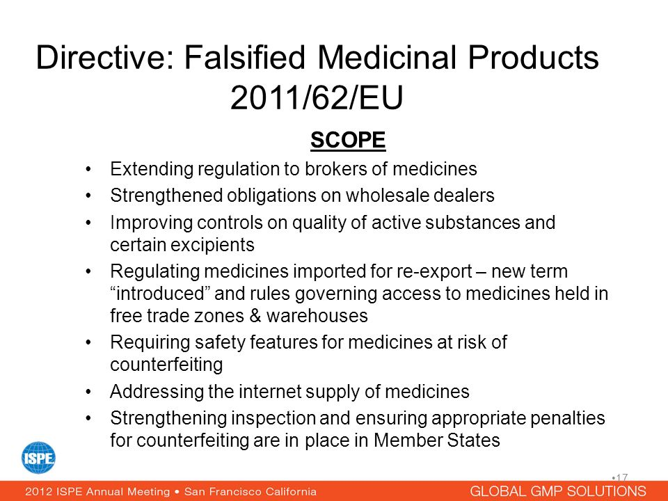 Directive: Falsified Medicinal Products 2011/62/EU